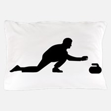 Curling player Pillow Case