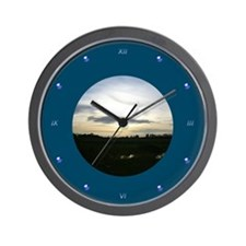 Glowing Sunset Wall Clock