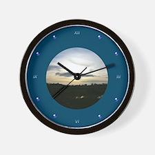 Glowing Sunset Wall Clock
