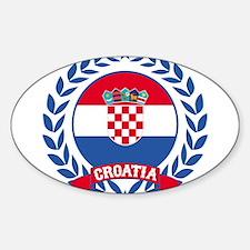 Croatia Wreath Decal