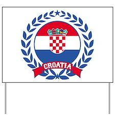 Croatia Wreath Yard Sign