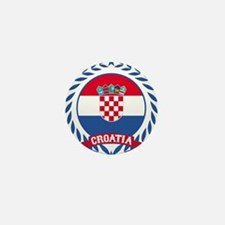 Croatia Wreath Mini Button