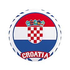 "Croatia Wreath 3.5"" Button"