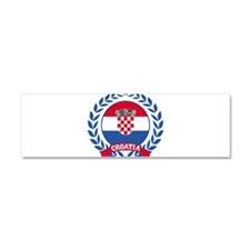 Croatia Wreath Car Magnet 10 x 3