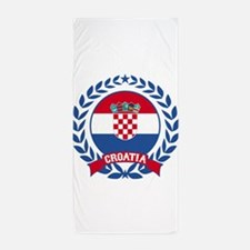 Croatia Wreath Beach Towel