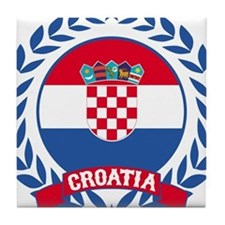 Croatia Wreath Tile Coaster