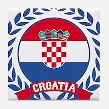 Croatia Wreath Tile Coaster