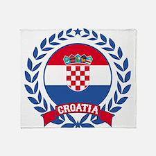 Croatia Wreath Throw Blanket