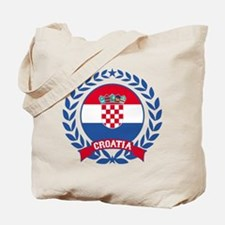 Croatia Wreath Tote Bag