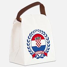 Croatia Wreath Canvas Lunch Bag