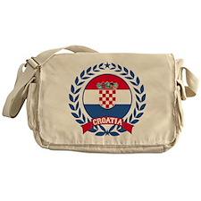 Croatia Wreath Messenger Bag
