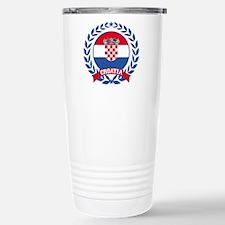 Croatia Wreath Travel Mug