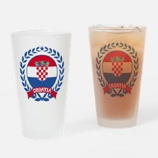 Croatia Wreath Drinking Glass