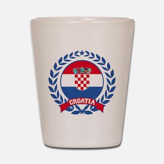 Croatia Wreath Shot Glass
