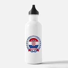 Croatia Wreath Water Bottle