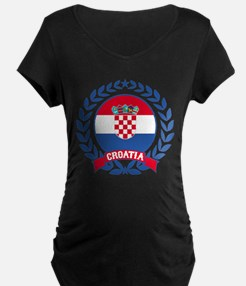 Croatia Wreath Maternity T-Shirt