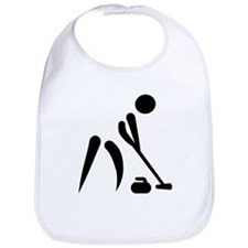 Curling player symbol Bib