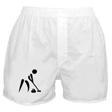 Curling player symbol Boxer Shorts