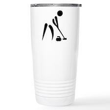 Curling player symbol Travel Coffee Mug