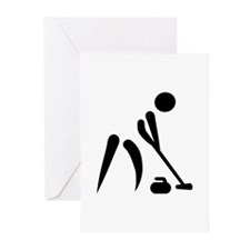 Curling player symbol Greeting Cards (Pk of 20)