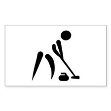 Curling player symbol Decal