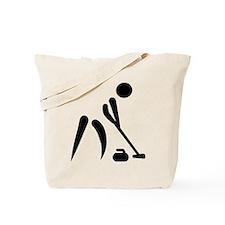 Curling player symbol Tote Bag