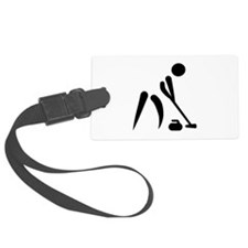 Curling player symbol Luggage Tag