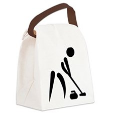 Curling player symbol Canvas Lunch Bag