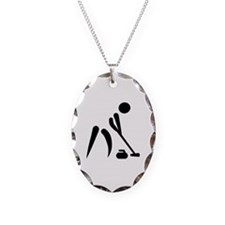 Curling player symbol Necklace