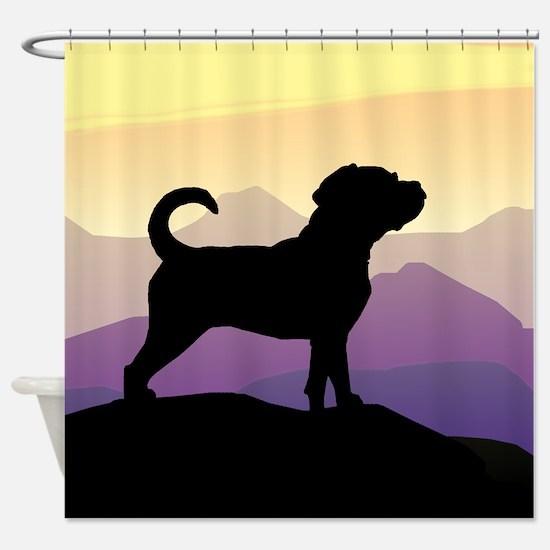 Puggle Purple Mountains Shower Curtain