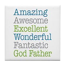 God Father - Amazing Fantastic Tile Coaster