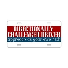 Directionally Challenged Driver Aluminum License P