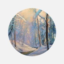 "Winter brook pastel 3.5"" Button"