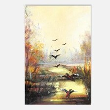 Autumn Hunting Pastel Postcards (package Of 8)