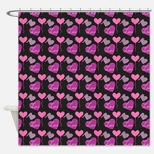 Heart of Hearts Love Pattern Shower Curtain