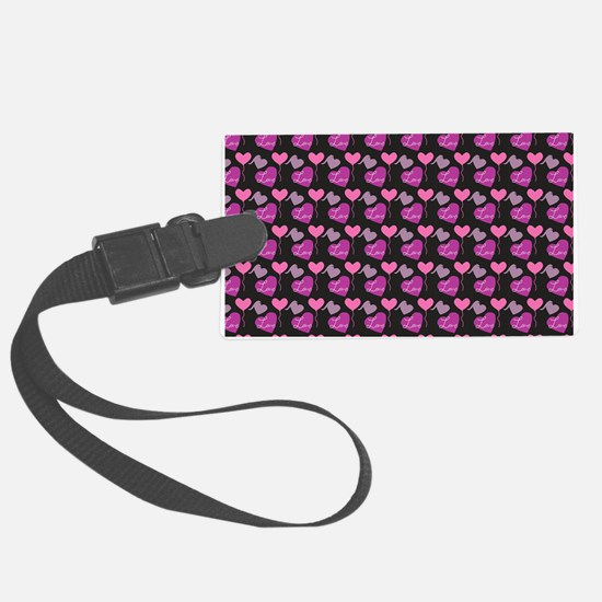 Heart of Hearts Love Pattern Luggage Tag