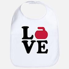Curling love stone Bib