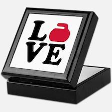 Curling love stone Keepsake Box