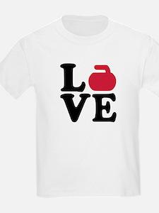 Curling love stone T-Shirt