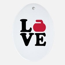 Curling love stone Ornament (Oval)
