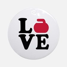 Curling love stone Ornament (Round)