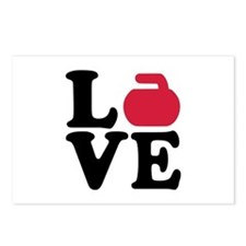 Curling love stone Postcards (Package of 8)
