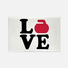 Curling love stone Rectangle Magnet
