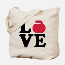 Curling love stone Tote Bag