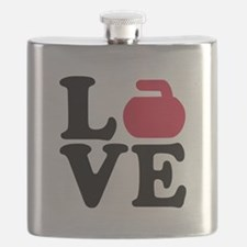 Curling love stone Flask