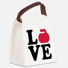 Curling love stone Canvas Lunch Bag