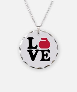 Curling love stone Necklace