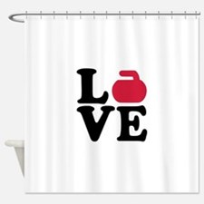 Curling love stone Shower Curtain