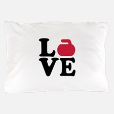 Curling love stone Pillow Case