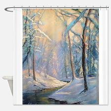 Winter brook pastel Shower Curtain